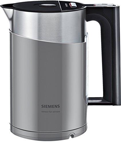 Siemens TW86105P Wasserkocher (2400 Watt, 1,5 Liter, urban grau/schwarz